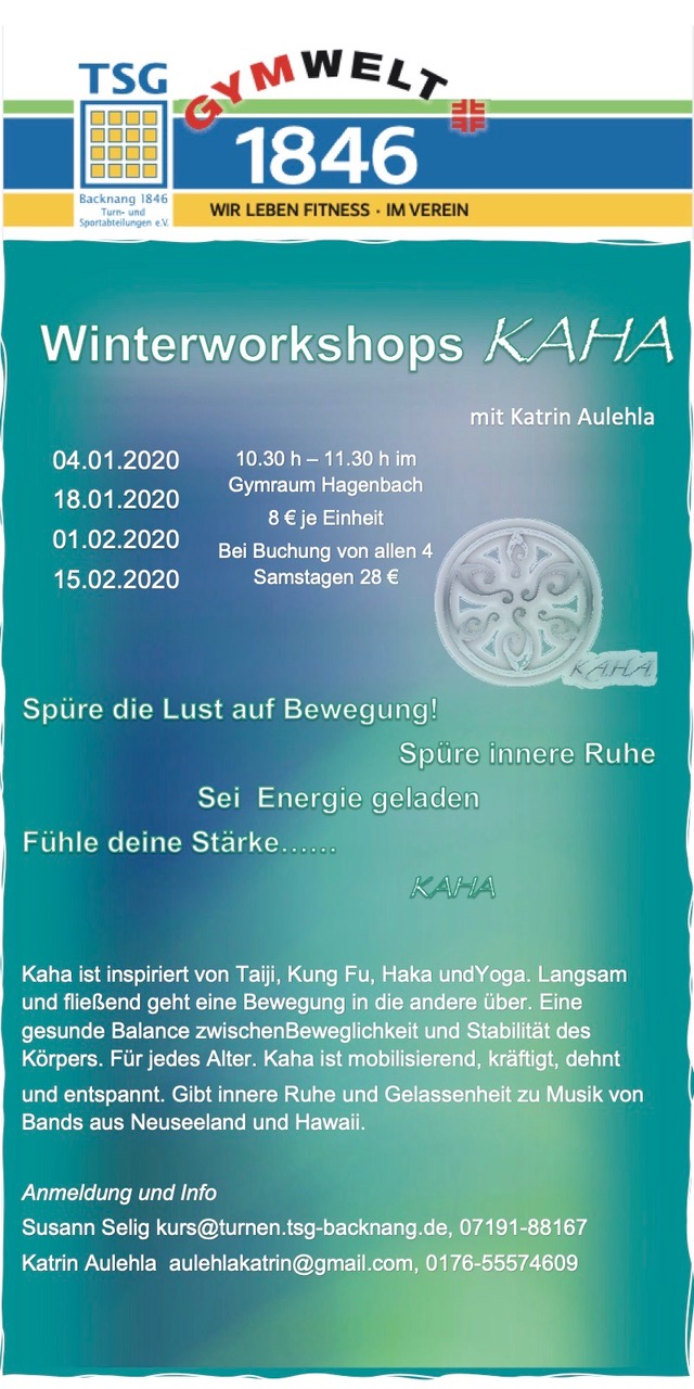 KAHA WORKSHOPS